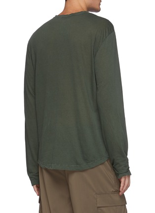Back View - Click To Enlarge - JAMES PERSE - Cotton Long Sleeved Crewneck T-Shirt