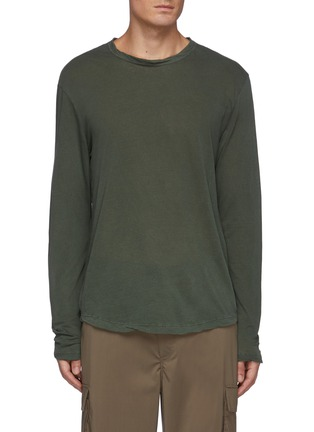 Main View - Click To Enlarge - JAMES PERSE - Cotton Long Sleeved Crewneck T-Shirt