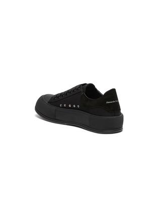 - ALEXANDER MCQUEEN - Suede Logo Heel Tab Canvas Sneakers