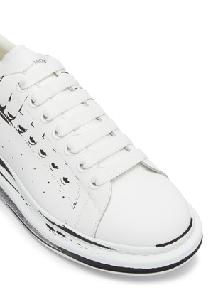 Detail View - Click To Enlarge - ALEXANDER MCQUEEN - 'Larry' Printed Leather Sneakers