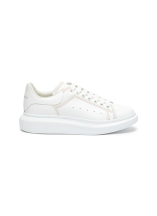Main View - Click To Enlarge - ALEXANDER MCQUEEN - 'Larry' Rainbow Stitch Leather Sneakers