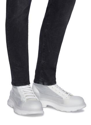 Figure View - Click To Enlarge - ALEXANDER MCQUEEN - 'Tread Slick' transparent High top sneakers