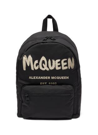 Main View - Click To Enlarge - ALEXANDER MCQUEEN - Graffiti Logo Print Backpack