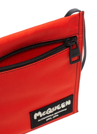 Detail View - Click To Enlarge - ALEXANDER MCQUEEN - Logo Embroidered Patch Crossbody Pouch