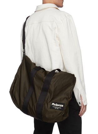 Front View - Click To Enlarge - ALEXANDER MCQUEEN - Logo Patch Nylon Tote