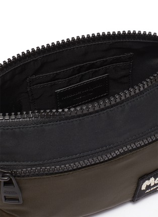 Detail View - Click To Enlarge - ALEXANDER MCQUEEN - Logo Embroidered Patch Nylon Phone Pouch