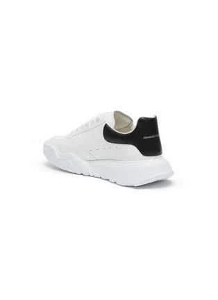 - ALEXANDER MCQUEEN - Leopard Sole Suede Heel Tab Leather Sneakers