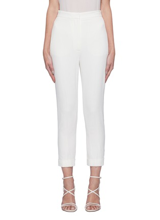 Main View - Click To Enlarge - ALEXANDER MCQUEEN - Cropped suiting pants
