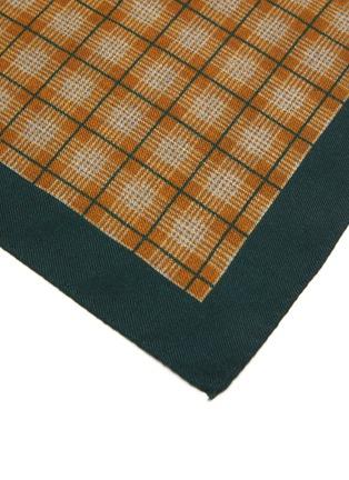 Detail View - Click To Enlarge - STEFANOBIGI MILANO - Centre Gingham Print Wool Handkerchief