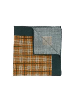 Main View - Click To Enlarge - STEFANOBIGI MILANO - Centre Gingham Print Wool Handkerchief