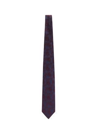 Figure View - Click To Enlarge - STEFANOBIGI MILANO - Taro' Paisley Jacquard Silk Twill Tie