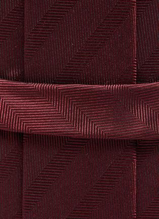 Detail View - Click To Enlarge - STEFANOBIGI MILANO - Herringbone Jacquard Silk Tie