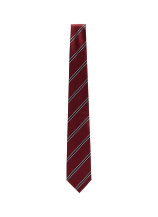 Figure View - Click To Enlarge - STEFANOBIGI MILANO - Senna' Regimental Striped Silk Twill Tie