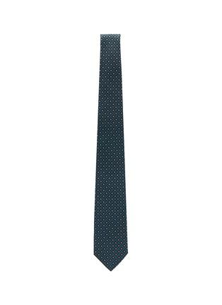 Figure View - Click To Enlarge - STEFANOBIGI MILANO - Nilo' Floral Tile Print Silk Tie
