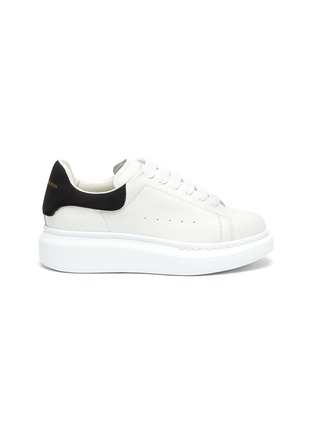 Main View - Click To Enlarge - ALEXANDER MCQUEEN - 'Molly' contrast heel tab oversized sole Todder and Kids sneakers