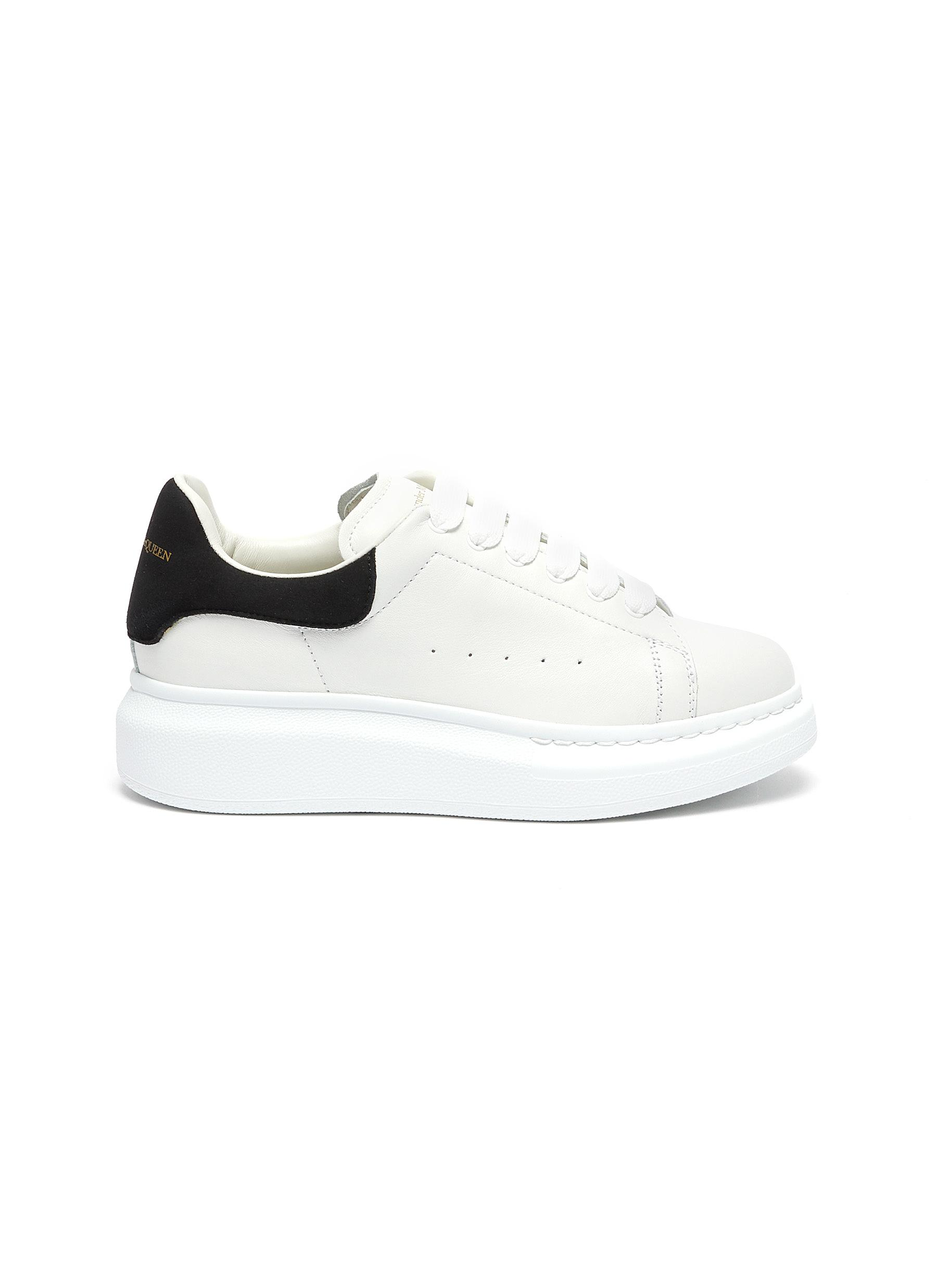 'Molly' contrast heel tab oversized sole Todder and Kids sneakers