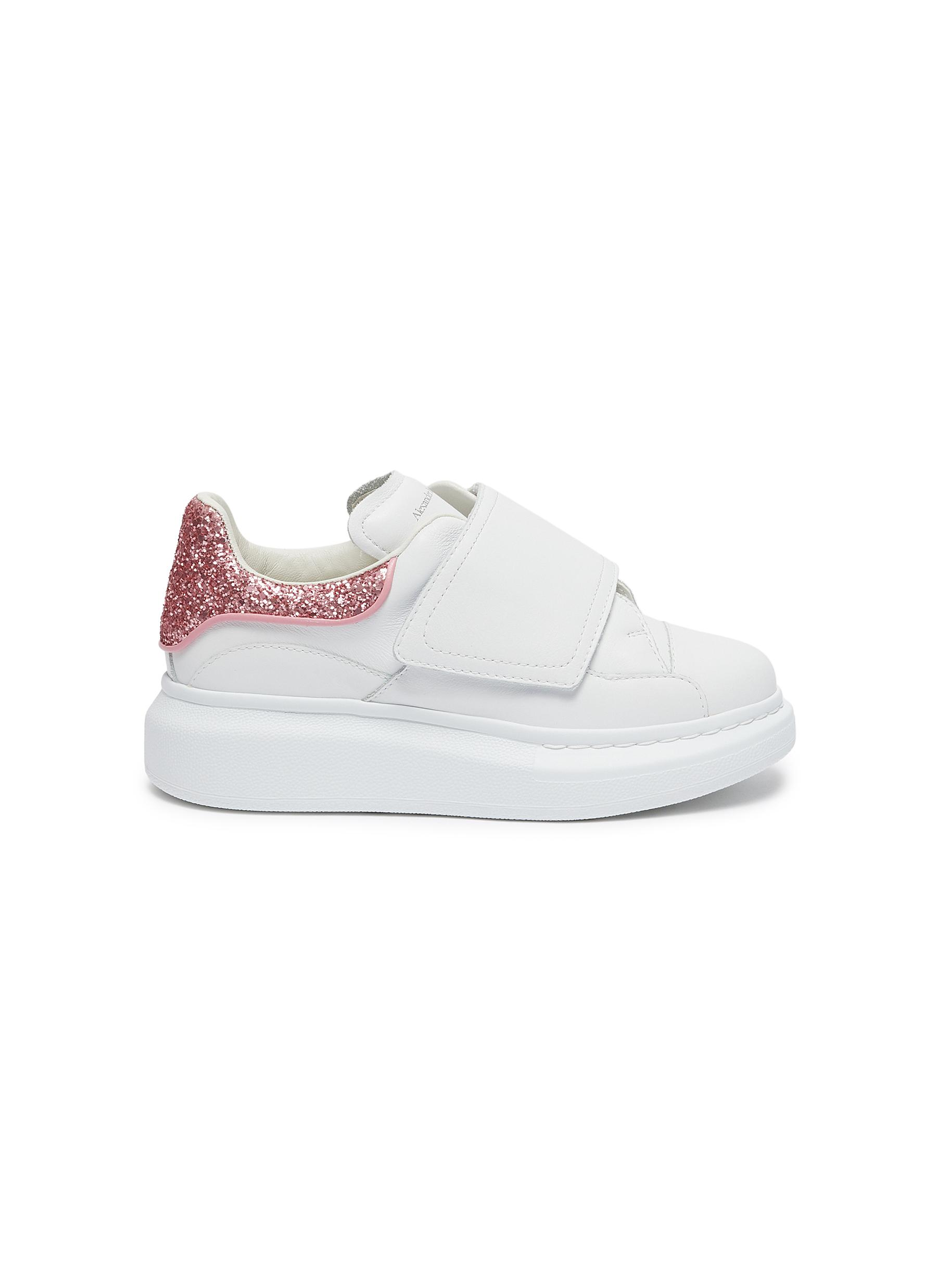 'Molly' contrast heel tab velcro oversized sole Todder and Kids sneakers