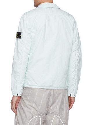 Back View - Click To Enlarge - STONE ISLAND - Naslan' Garment Dyed Nylon Zip-up Jacket