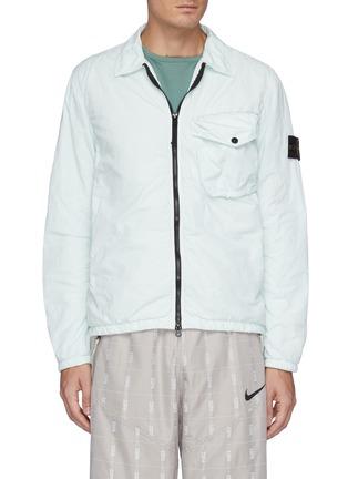 Main View - Click To Enlarge - STONE ISLAND - Naslan' Garment Dyed Nylon Zip-up Jacket