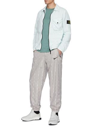 Figure View - Click To Enlarge - STONE ISLAND - Naslan' Garment Dyed Nylon Zip-up Jacket