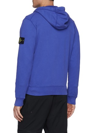 Back View - Click To Enlarge - STONE ISLAND - Piquet Small Monochromatic Chest Logo w/ Black Tab Polo