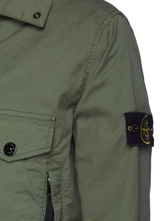 - STONE ISLAND - Double Pocket Front Garment Dyed Cotton Blend Jacket
