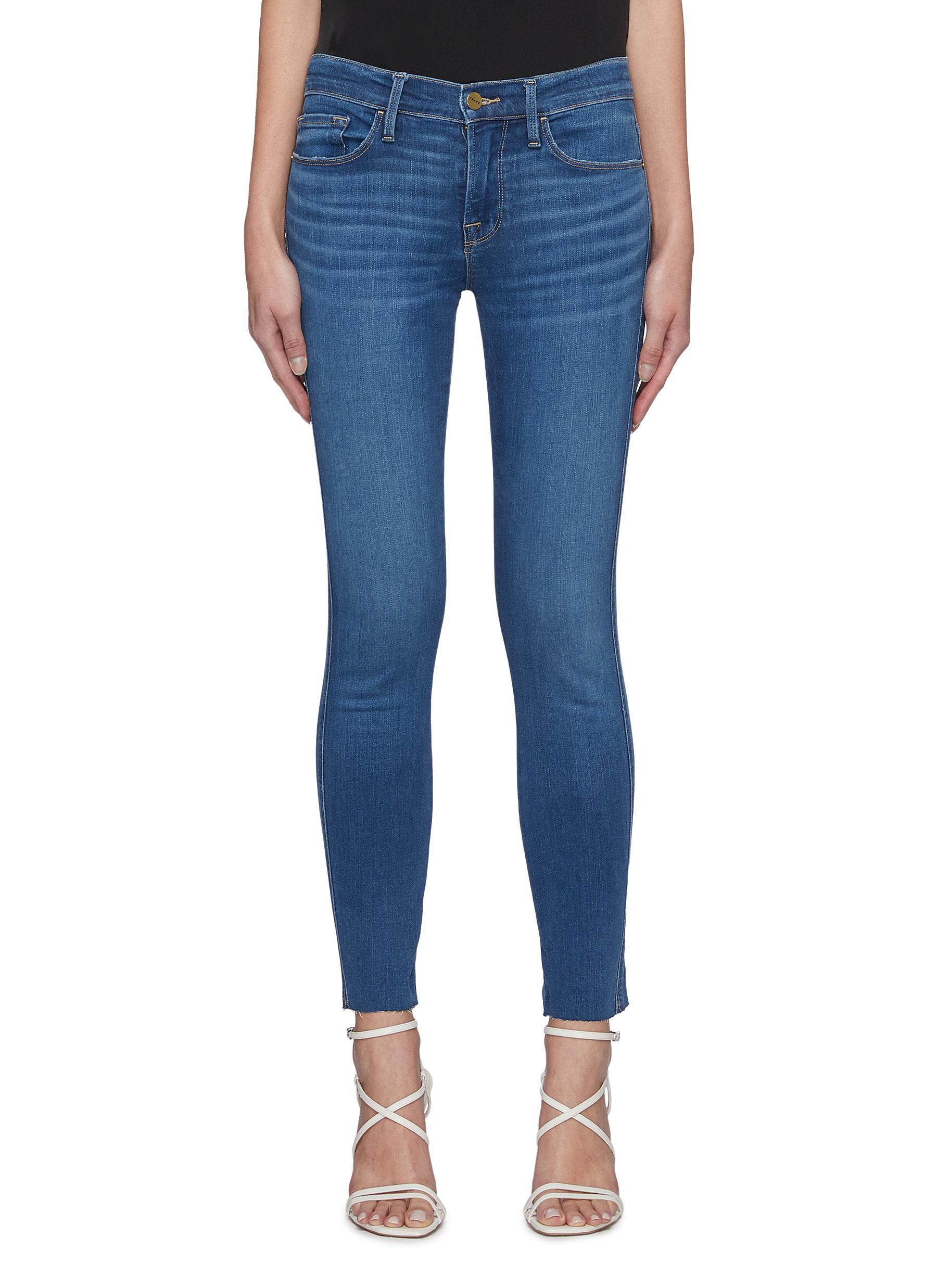 Le Skinny De Jeanne' Raw Hem Jeans