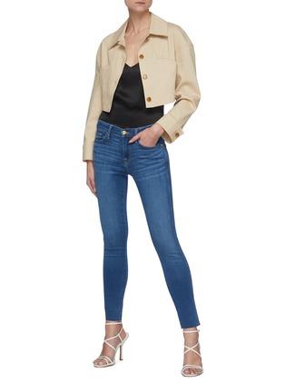 Figure View - Click To Enlarge - FRAME DENIM - Le Skinny De Jeanne' Raw Hem Jeans