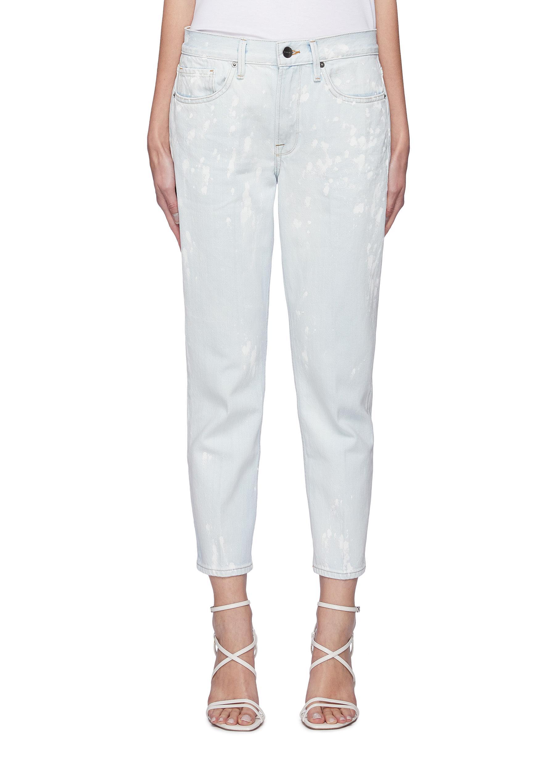 """""""""""Le Piper' Bleach Pattern Boyfriend Jeans"""""""