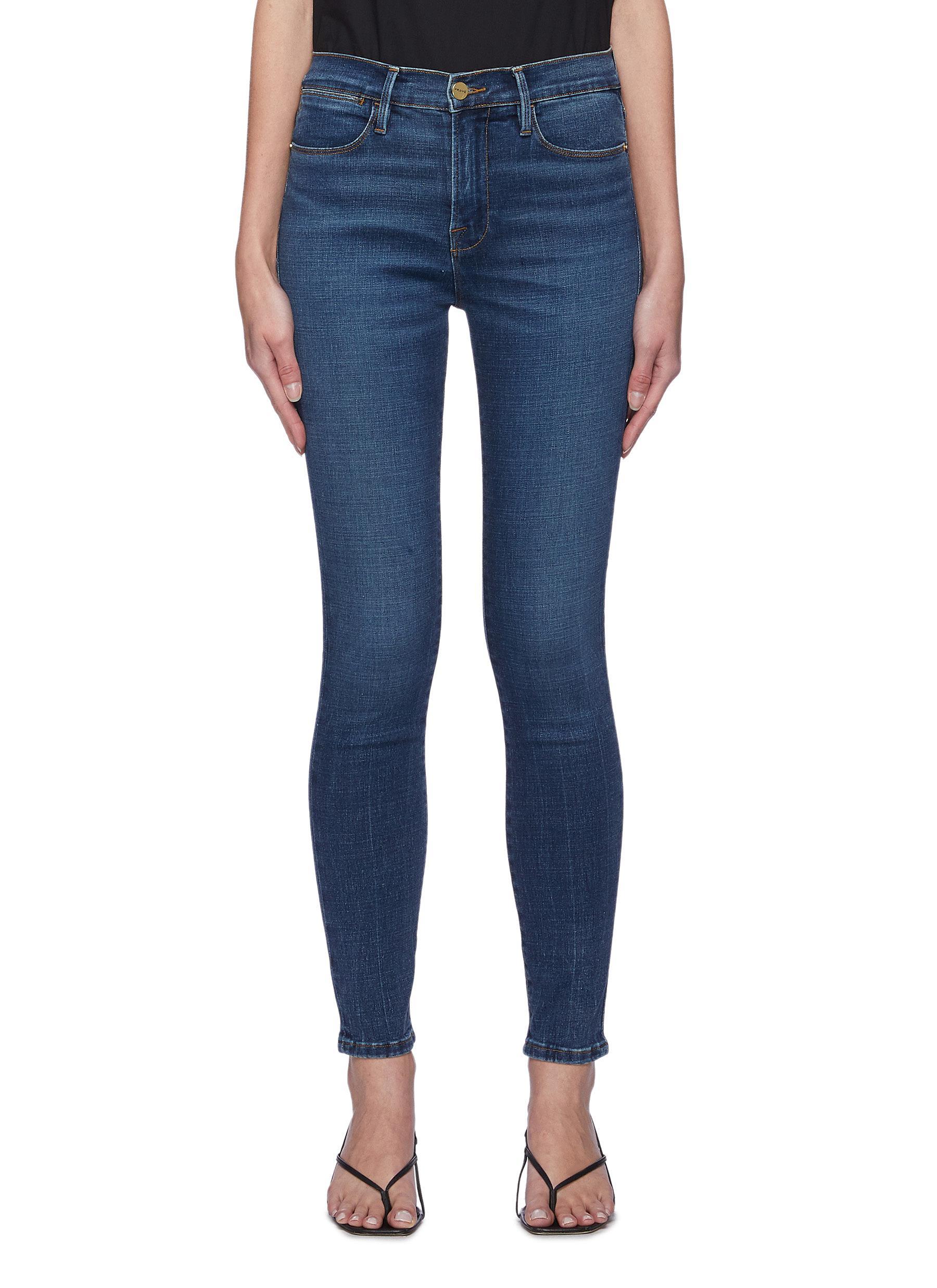 Le High Skinny' medium wash hemp jeans