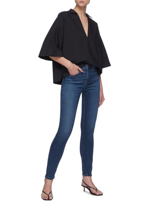 Figure View - Click To Enlarge - FRAME DENIM - Le High Skinny' medium wash hemp jeans