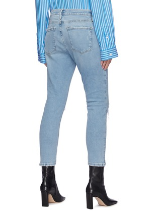 Back View - Click To Enlarge - FRAME DENIM - Le Garcon' distressed crop skinny jeans