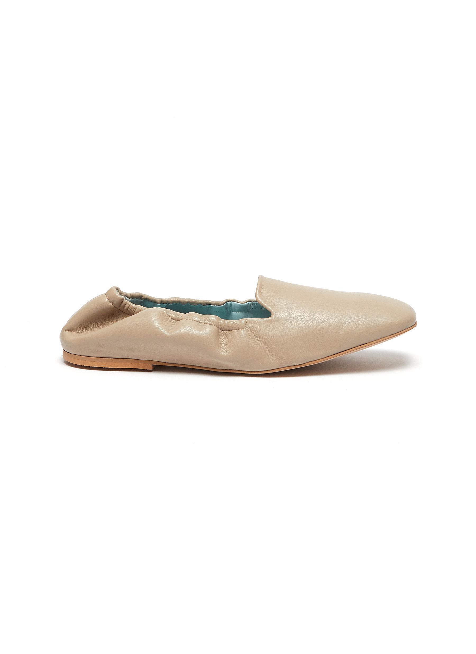 'Mina' Square Toe Vegan Leather Flats
