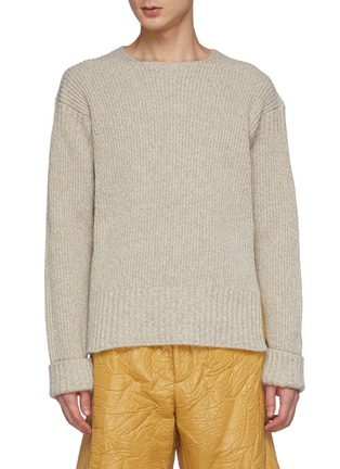 Main View - Click To Enlarge - JACQUEMUS - La Maille Baja' Cuffed Wool Blend Crewneck Sweater
