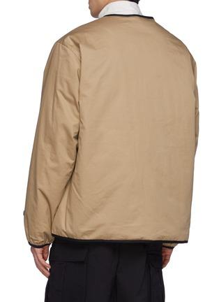 Back View - Click To Enlarge - NANAMICA - Reversible Down Cardigan Jacket