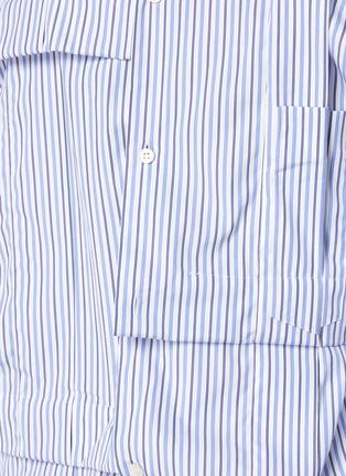 - COMME DES GARÇONS SHIRT - Pinstripe Wrinkle Effect Long Shirt