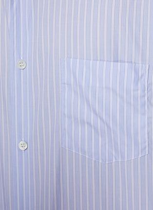 - COMME DES GARÇONS SHIRT - Front Stripe Asymmetrical Length Hoodie