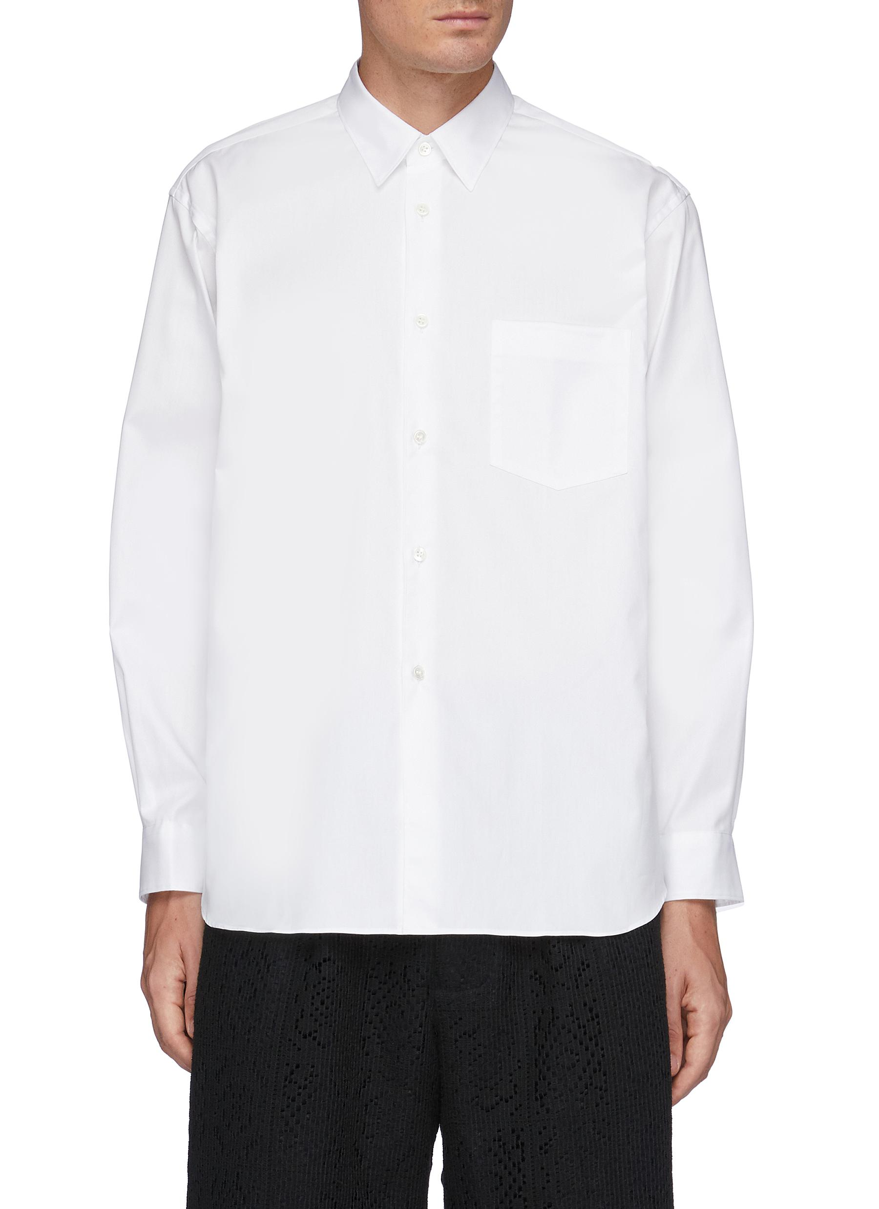 Forever' Wide Classic Plain Oxford Shirt