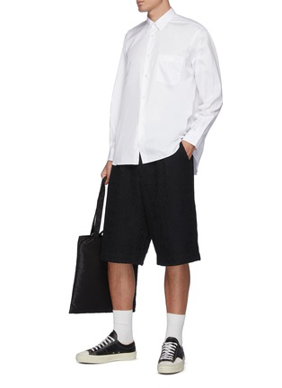 Figure View - Click To Enlarge - COMME DES GARÇONS SHIRT - Forever' Wide Classic Plain Oxford Shirt