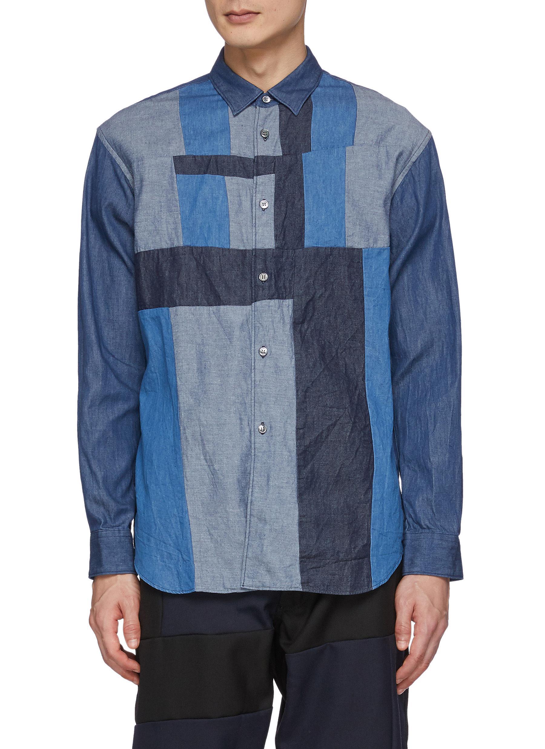 Denim Vertical Panel Shirt