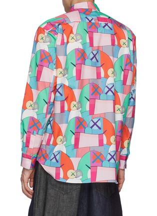 Back View - Click To Enlarge - COMME DES GARÇONS SHIRT - Comme Des Garçons x Kaws All Over Print Shirt