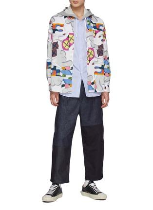 Figure View - Click To Enlarge - COMME DES GARÇONS SHIRT - Comme Des Garçons x Kaws All Over Print Shirt