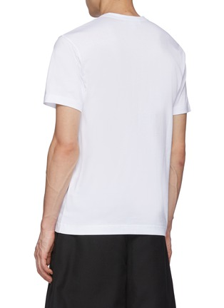 Back View - Click To Enlarge - COMME DES GARÇONS SHIRT - Comme Des Garçons x Kaws Green Branding Print T-Shirt