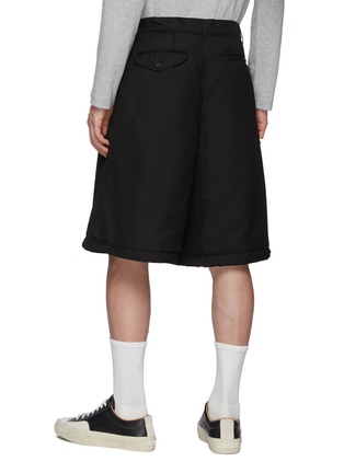 Back View - Click To Enlarge - COMME DES GARÇONS SHIRT - Ply Padding Wool Garbadine Plain Pants