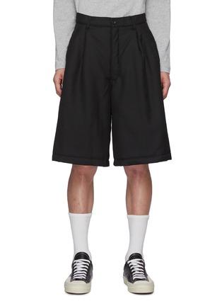 Main View - Click To Enlarge - COMME DES GARÇONS SHIRT - Ply Padding Wool Garbadine Plain Pants