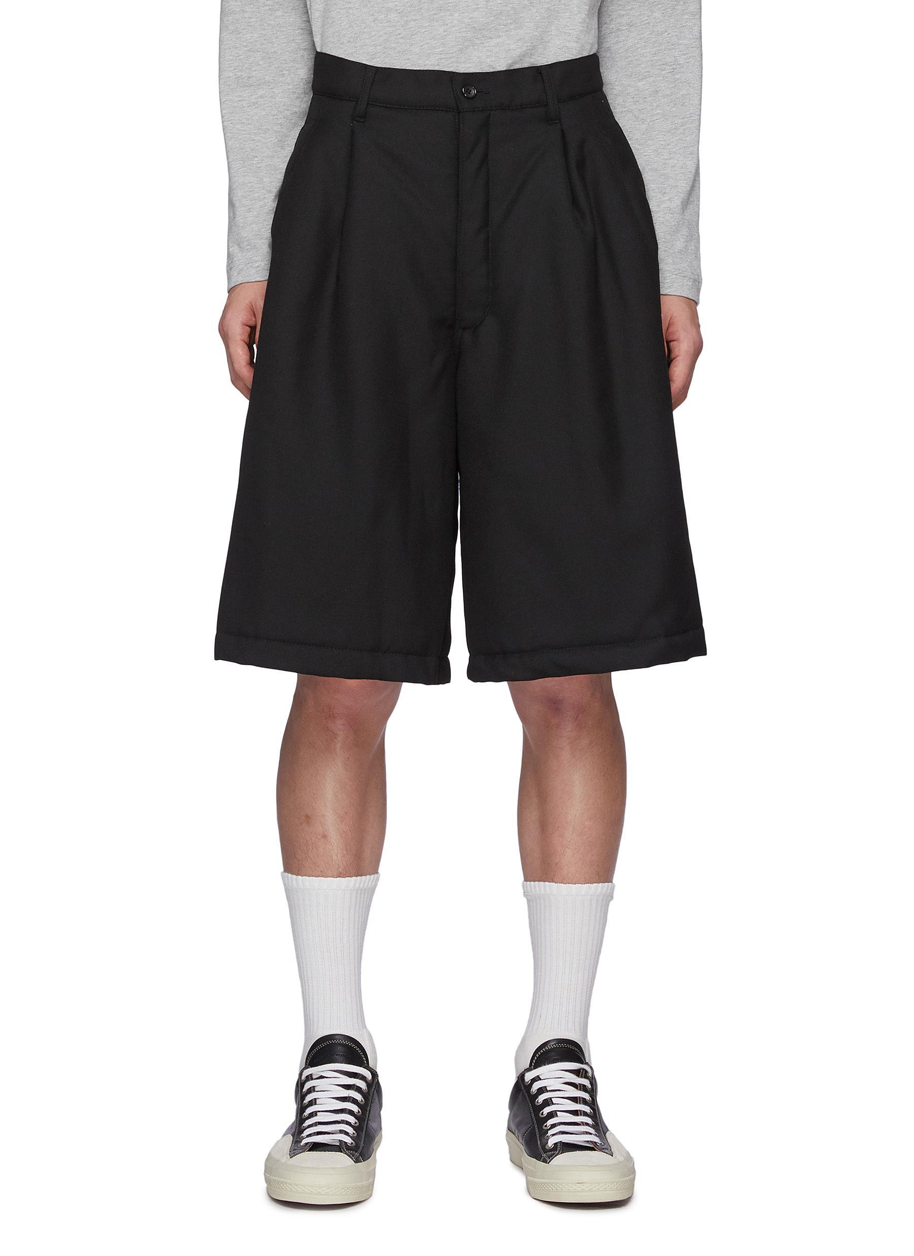 Ply Padding Wool Garbadine Plain Pants