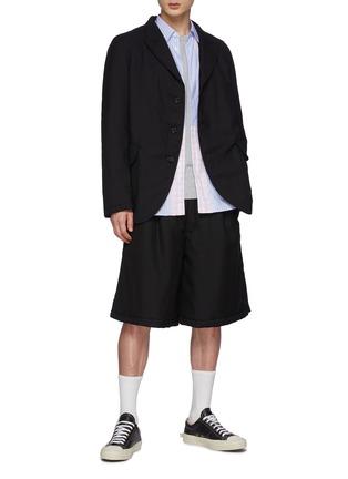 Figure View - Click To Enlarge - COMME DES GARÇONS SHIRT - Ply Padding Wool Garbadine Plain Pants