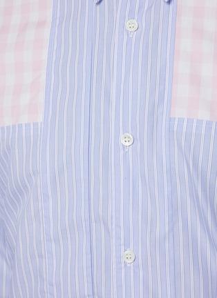 - COMME DES GARÇONS SHIRT - Stripe Patched Pink Checker Shirt