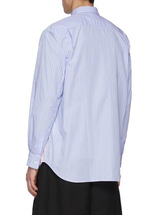Back View - Click To Enlarge - COMME DES GARÇONS SHIRT - Stripe Patched Pink Checker Shirt