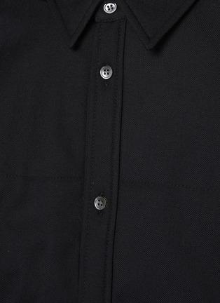 - COMME DES GARÇONS SHIRT - Wool Gabardine Cropped Padded Shirt